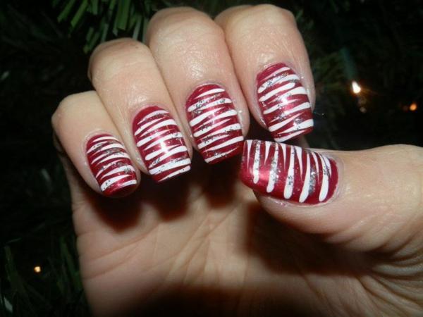 originelle-Nägel-für-Weihnachten-schöne-Ideen-glänzende-Nägel Gelnägel für Weihnachten