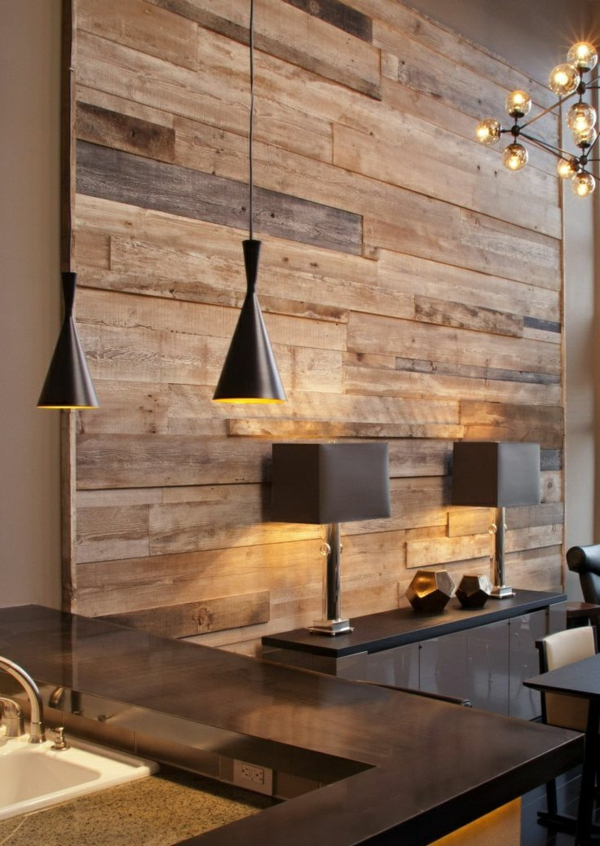 originelle-Wandgestaltung-für-die-Wohnung-Holz