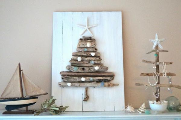 Weihnachtsdeko Aus Holz Zum Selbermachen ~   – schöne Weihnachtsbäume aus Holzbretter zum Selbermachen