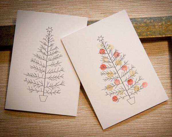 Weihnachtskarten Malen.Schöne Weihnachtskarten Selber Basteln Mehr Als 100 Ideen
