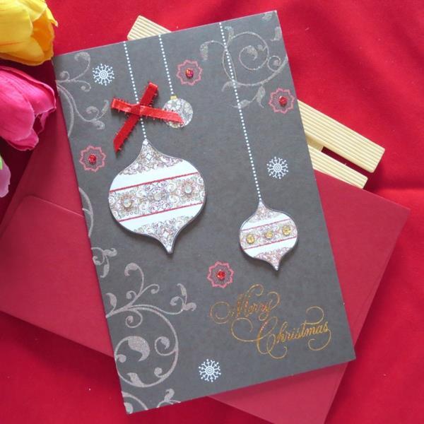 Sch ne weihnachtskarten selber basteln mehr als 100 ideen for Originelle weihnachtskarten basteln