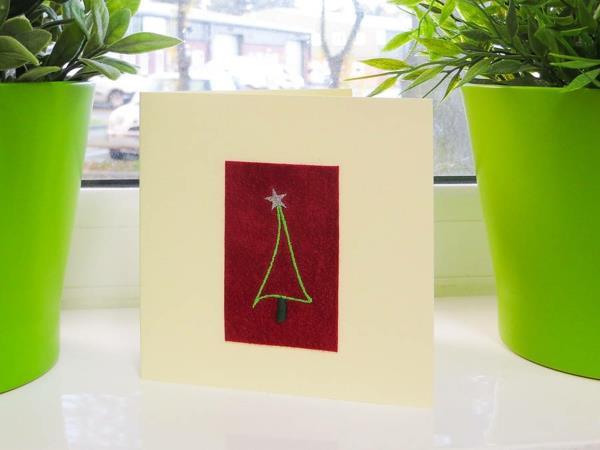 Sch ne weihnachtskarten selber basteln 100 ideen for Originelle weihnachtskarten basteln