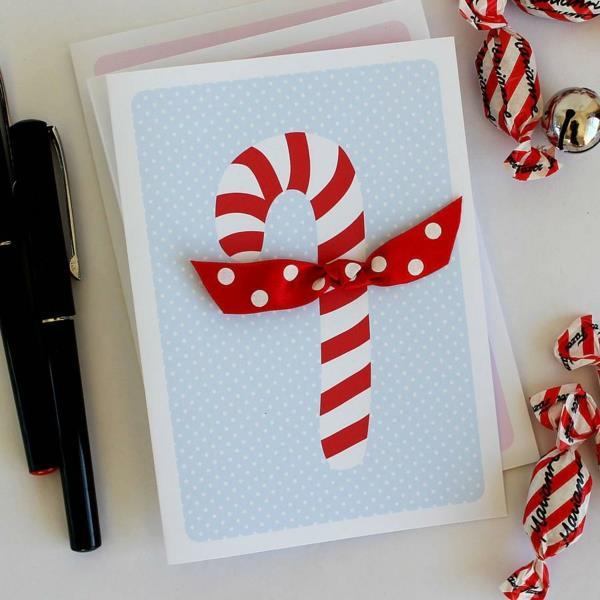 Sch ne weihnachtskarten selber basteln mehr als 100 ideen for Moderne weihnachtskarten