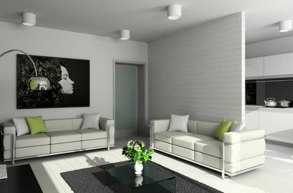 originelles-Design-für-das-Wohnzimmer-weiße-Wände