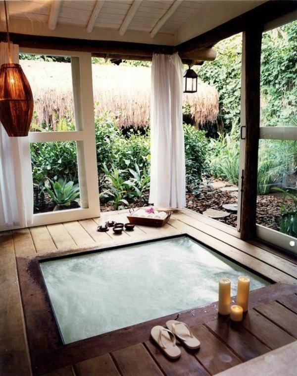 romantische-Atmosphäre-moderne-Whirlwanne-für-Innen/Whirlpools für Innen