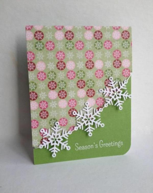 schöne-Weihnachtskarten-selber-basteln- Schöne Weihnachtskarten selber basteln