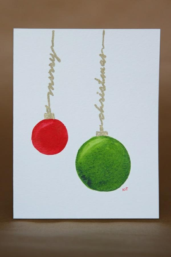 schöne-Weihnachtskarten-selber-basteln-coole-Ideen Schöne Weihnachtskarten selber basteln