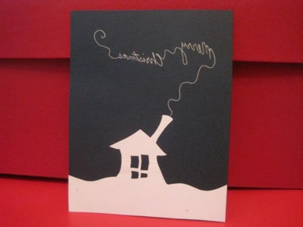 schöne-weihnachtskarten-basteln-tolle-gestaltung