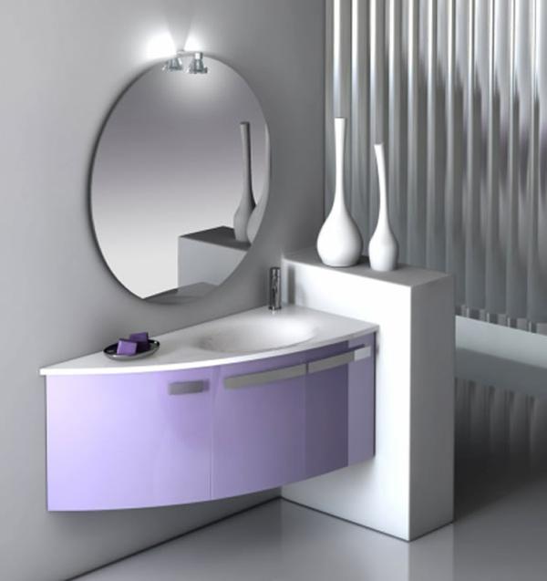 schönes-badspiegel-mit-lila-unterschränken