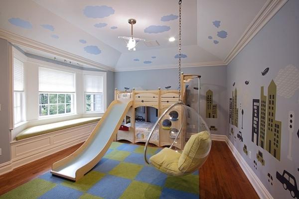 schönes-kinderzimmer-mit-hochbett-und-rutsche
