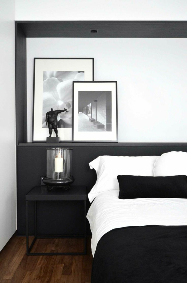 schlafzimmer-modern-gestalten-bett-in-weiß-und-schwarz