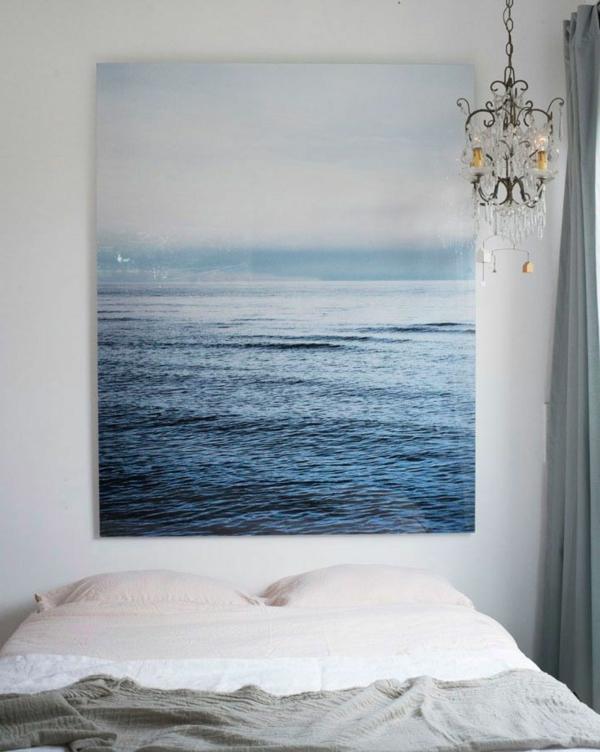 schlafzimmer-modern-gestalten-großes-bild-an-der-wand