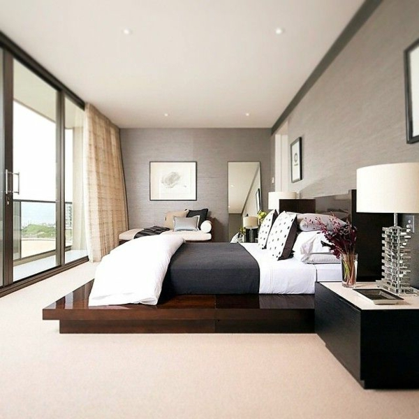 schlafzimmer modern gestalten w nde aus glas. Black Bedroom Furniture Sets. Home Design Ideas