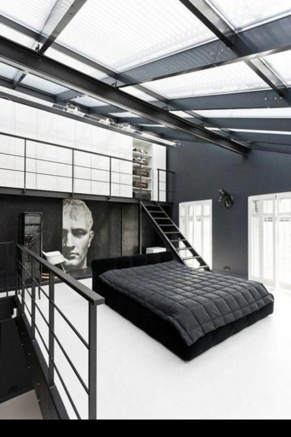 schlafzimmer-modern-gestalten-weiß-und-schwarz