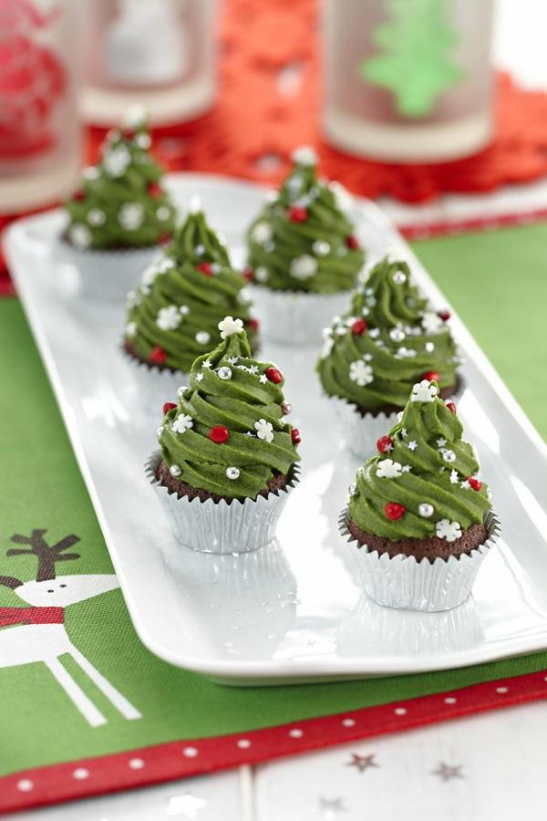 schmackhafte-Cupcakes-für-Weihnachten-backen