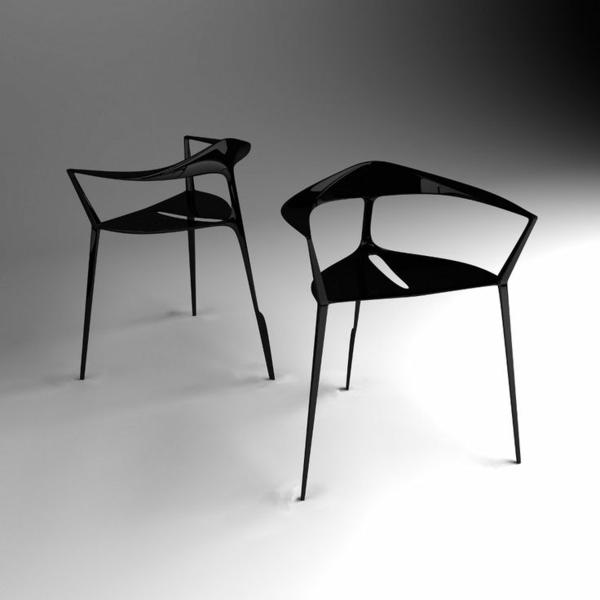 -schwarze-Designstühle-für-eine-schicke-Wohnung-Idee