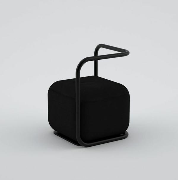 schwarzer-Designstuhl-mit-erstaunlichem-Design