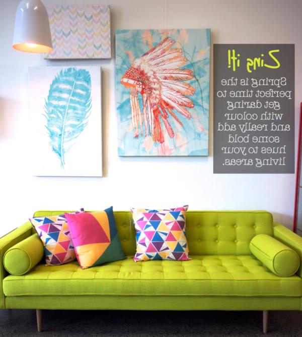 Neon Farbe Couch Neon Farbe Sofa