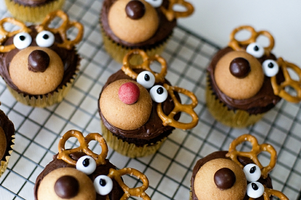 -super-leckere-Cupcakes-für-Weihnachten-Hirschköpfe