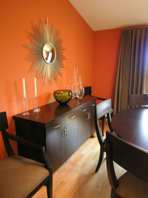 Moderne Orange Farbgestaltung Im Wohnzimmer Archzine Net Design