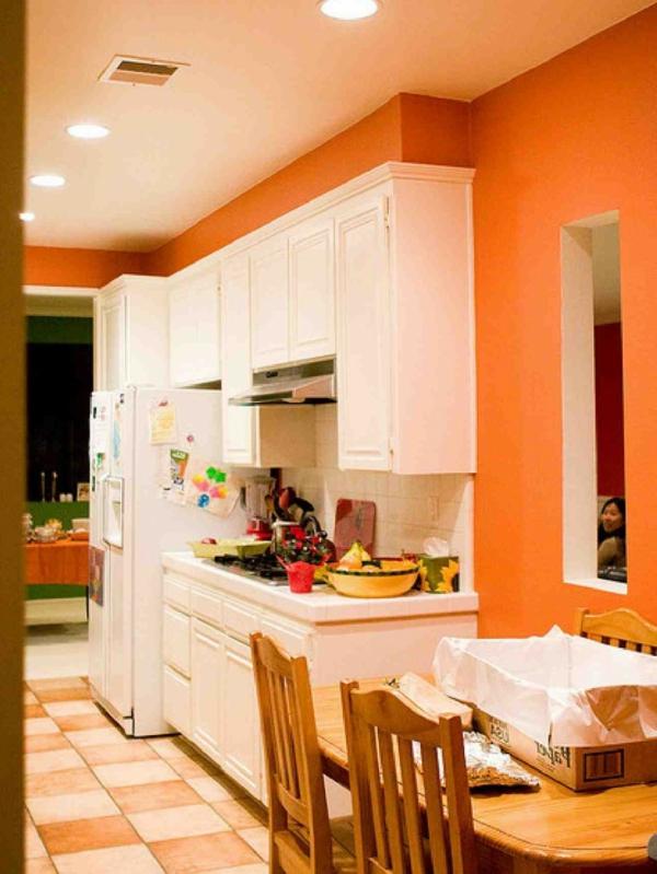 super-orange-küchen-wandfarbe-ulramoderne-küchen-design