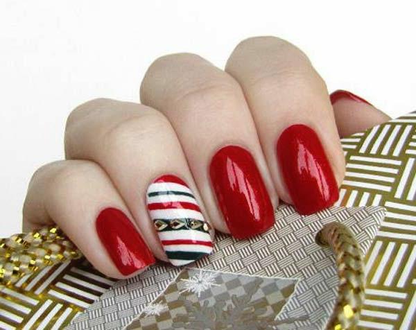super-tolle-Dekoration-für-Nägel-für- Weihnachten-coole-Ideen