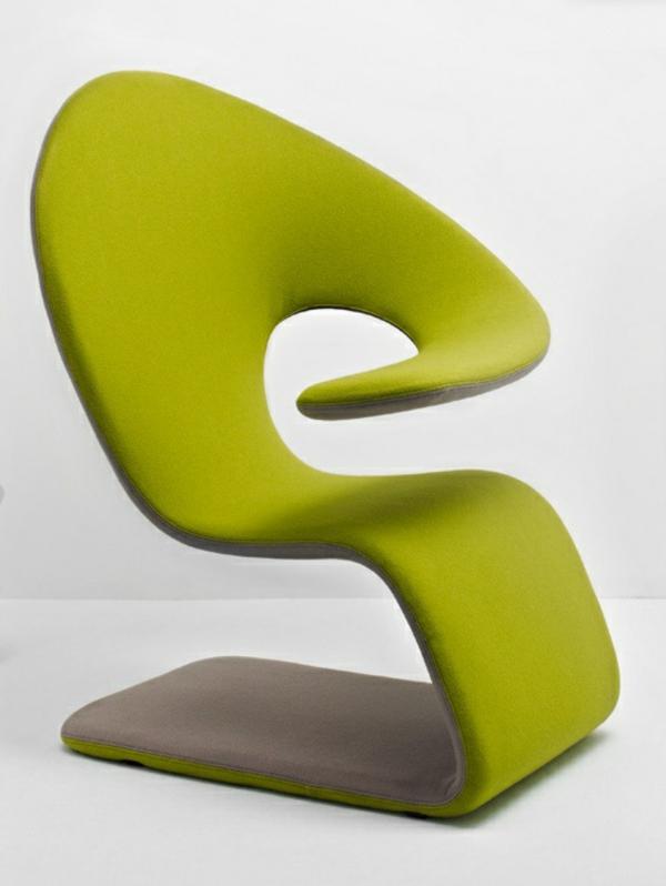 -super-tolles-Design-für-einen-Sessel-in-Olivgrün-