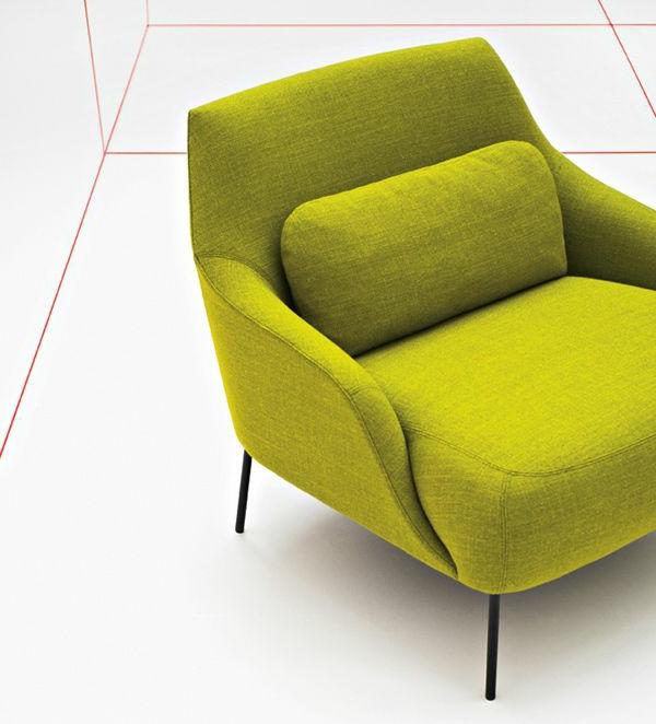 super-tolles-Design-für-einen-Sessel-in-Olivgrün
