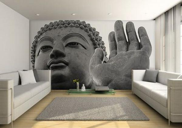 Inneneinrichtung Ideen Tapeten : Wohnzimmer Tapete: Tapeten rasch textil vliestapete ornamente im