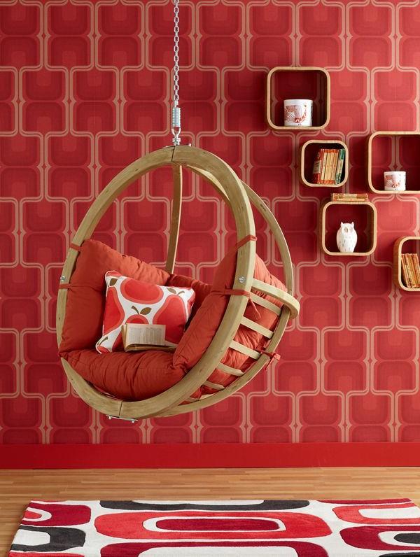 esszimmer rote wand originelle tapeten farben ideen rote farbschemen - Rote Wand Esszimmer