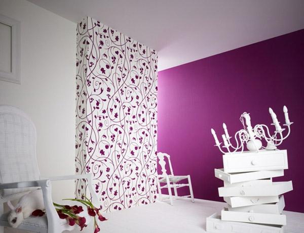 150 coole tapeten farben ideen teil 1 - Zimmergestaltung ideen ...