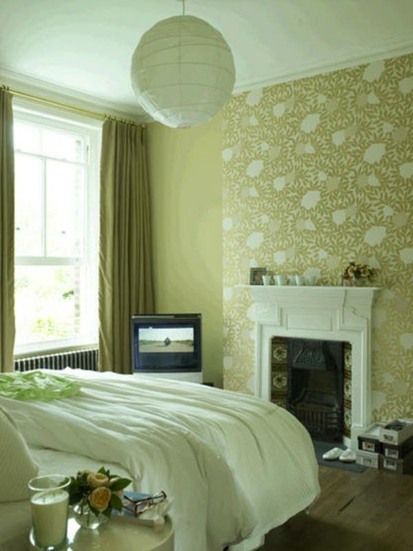 Wundervoll Tapeten Farben Ideen Gemütliches Grünes Schlafzimmer