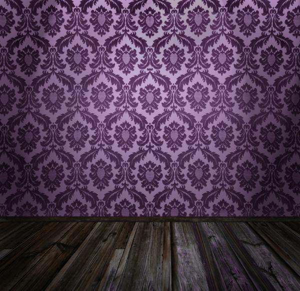 tapeten-farben-ideen-interessante-tapete-in-lila-farbtönung