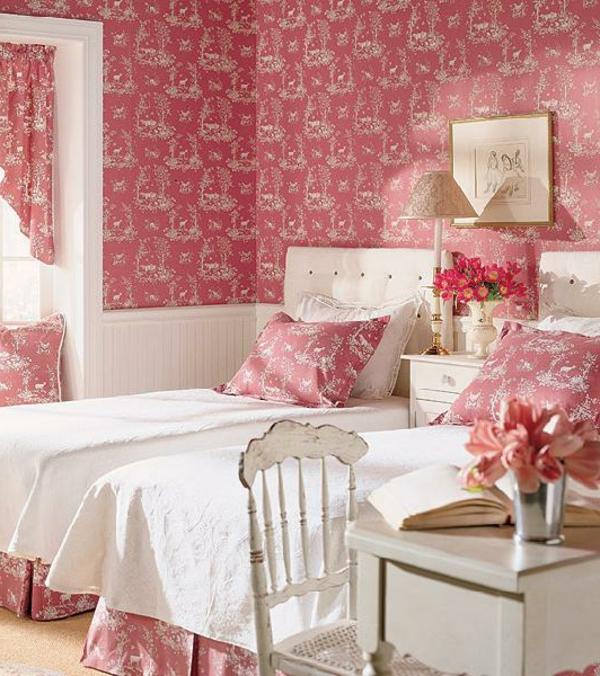 tapeten-farben-ideen-kinderzimmer-in-pink-und-weiß