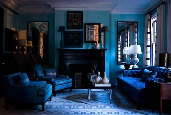 blaues wohnzimmer ideen | Möbelideen