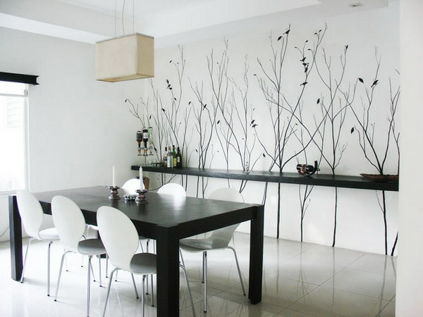 tapeten-farben-ideen-moderne-esszimmer-gestaltung-in-weiß