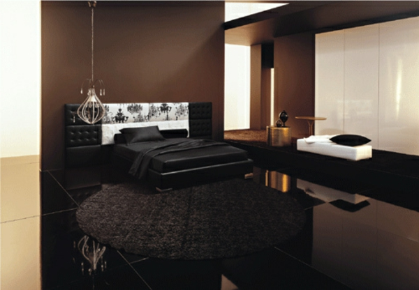modernes schlafzimmer braun. Black Bedroom Furniture Sets. Home Design Ideas