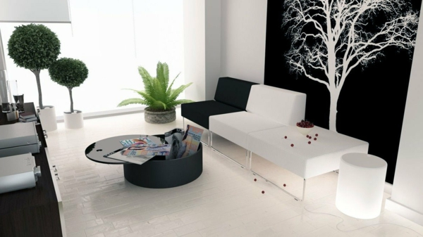 tapeten-farben-ideen-modernes-wohnzimmer-in-weiß-und-schwarz