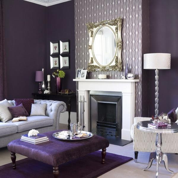 tapeten-farben-ideen-modernes-wohnzimmer-lila-nuancen