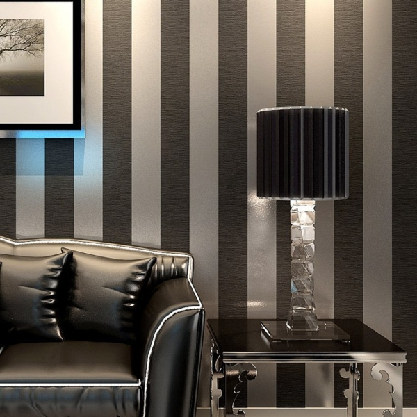 tapeten wohnzimmer modern grau ideen f r die. Black Bedroom Furniture Sets. Home Design Ideas