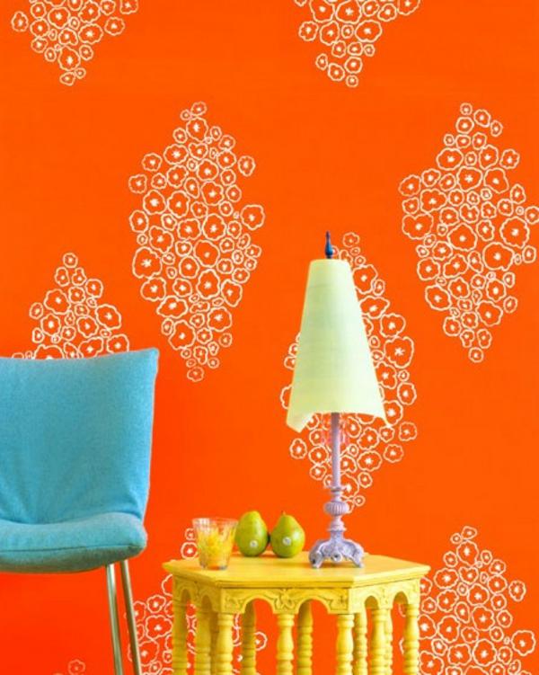 tapeten-farben-ideen-orange-wand-sehr-schön