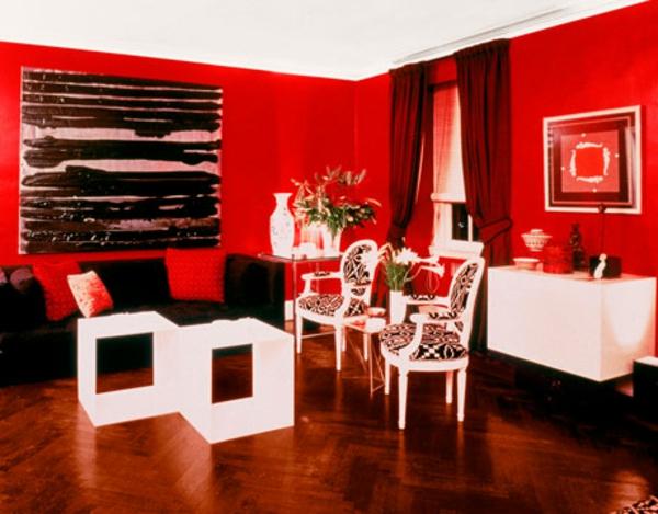 tapeten-farben-ideen-rote-wände-im-zimmer