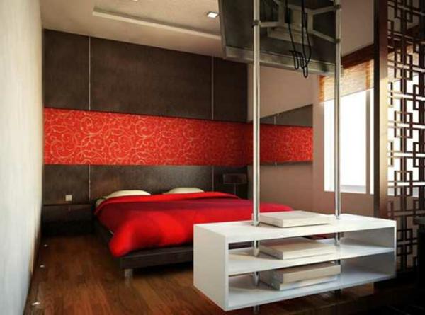 Schlafzimmer rot braun for Schlafzimmer rot braun