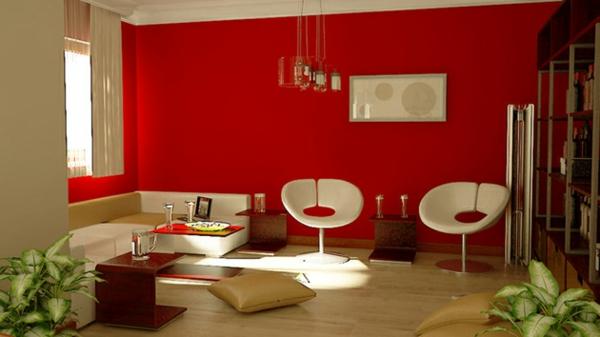 tapeten-farben-ideen-rotes-wohnzimmer-ausstatten