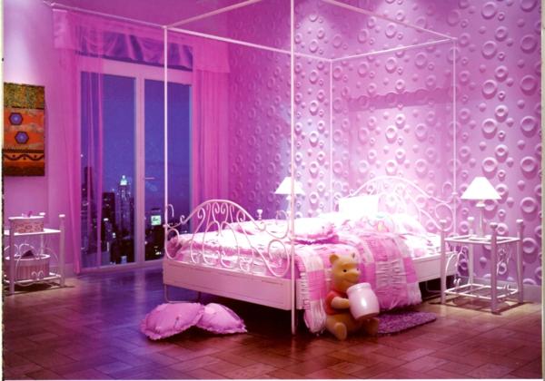 tapeten-farben-ideen-süßes-mädchenzimmer-in-pink