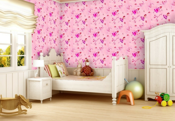 tapeten-farben-ideen-schöne-rosige-farbe