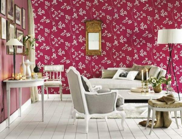 tapeten-farben-ideen-schönes-rosiges-wohnzimmer