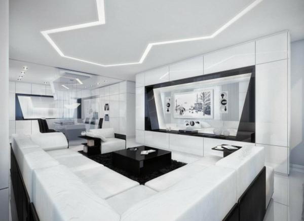 tapeten-farben-ideen-schönes-weißes-wohnzimmer