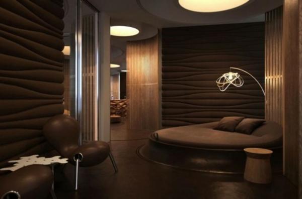 tapeten-farben-ideen-schickes-badezimmer-mit-braunen-wänden
