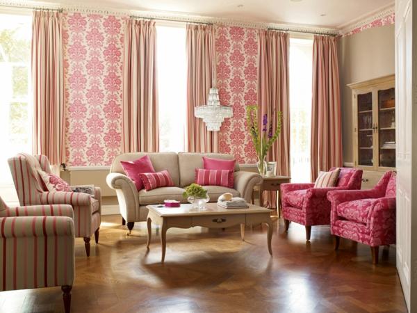Wohnzimmer Ideen Pink Elegantes Mit Vielen Sofas Und
